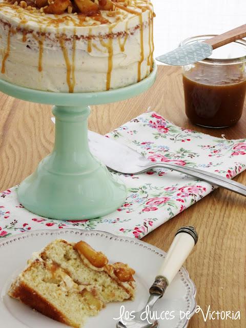 Tarta de manzana y caramelo salado