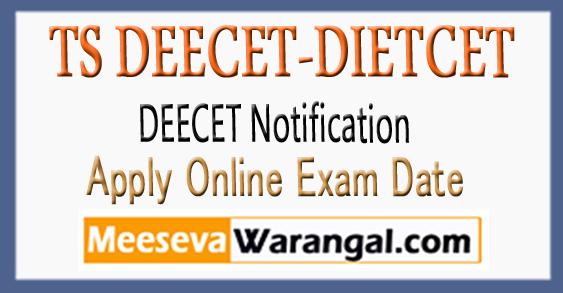 Telangana DIETCET DEECET Notification 2018 Apply Online Fee Details