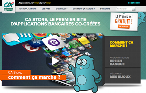 Page d'accueil CA Store