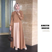 ANDHIMIND Gamis Dress Aneth Caramel