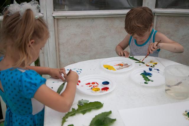 Занятия для детей летом.