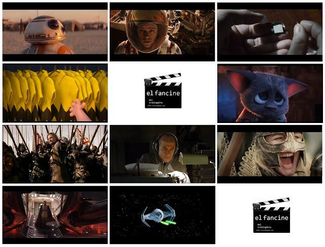 TOP10 el fancine - el troblogdita - Cine Bélico - ÁlvaroGP - Álvaro García - Star Wars - El despertar de la Fuerza - La venganza de los Sith - Una nueva esperanza - EL Señor de los Anillos: El retorno del Rey - Marte - El puente de los espías - Carlitos y Snoopy, la película de Peanuts - Hotel Transilvania - Alatriste - La vida de los otros