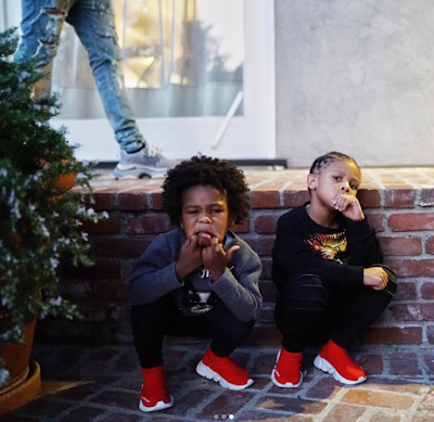 Future shares cute photos with his sons