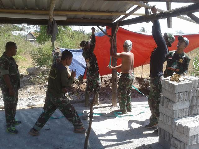 Kogasgabpad Bangun MCK Untuk Korban Gempa di Desa Sambelia Lombok