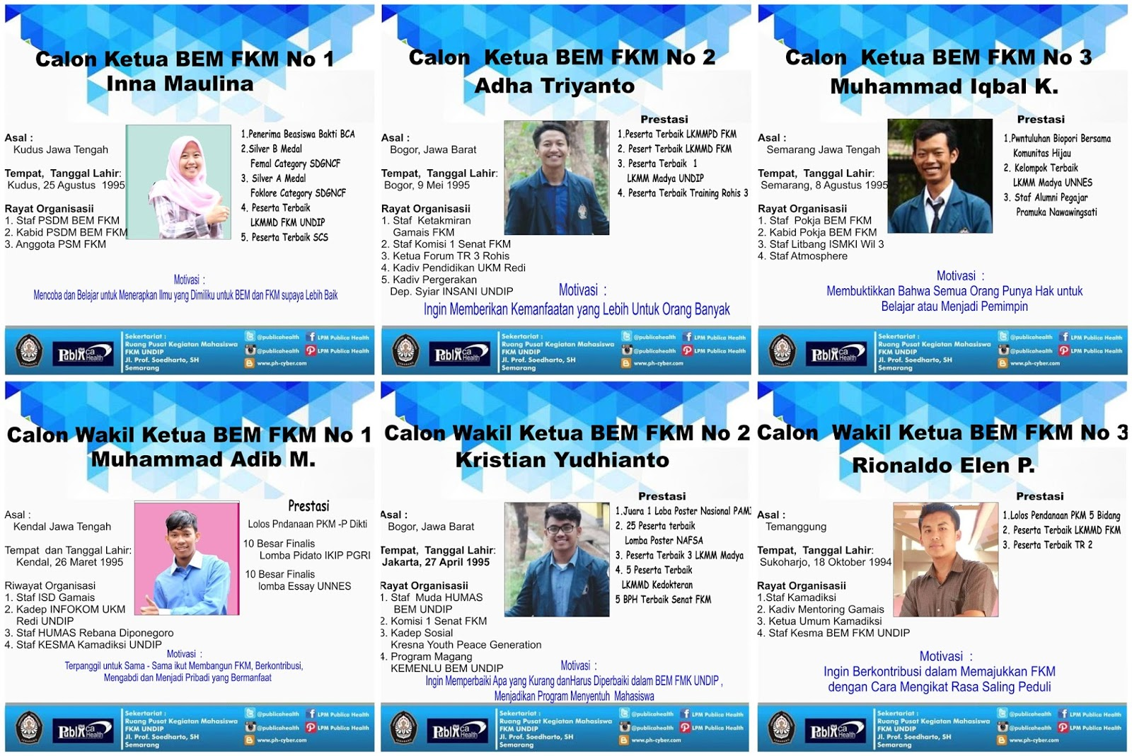 Bedah Visi Misi Calon Ketua Dan Wakil Ketua Bem Fkm Undip 2016 Lpm
