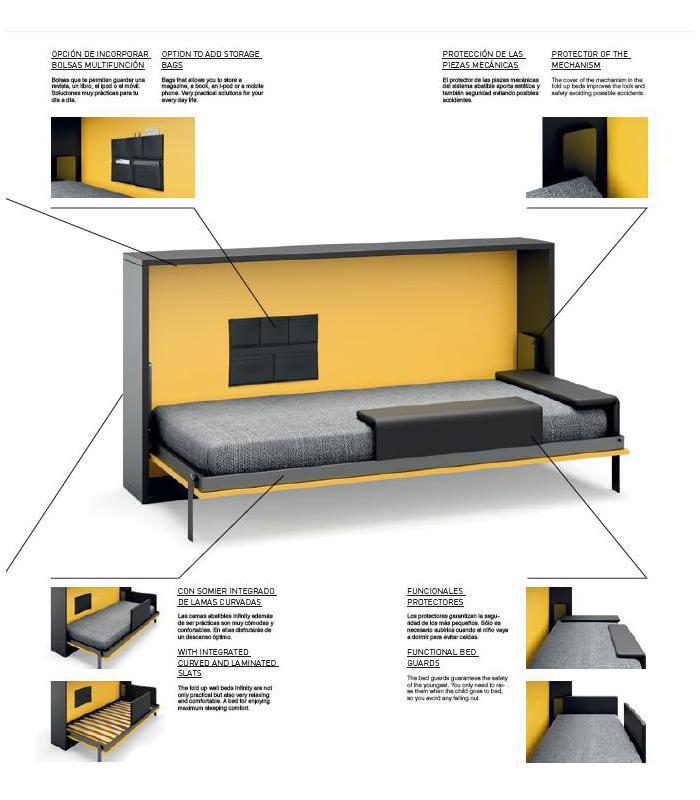 Literas abatibles infinity - Sistema cama abatible ...