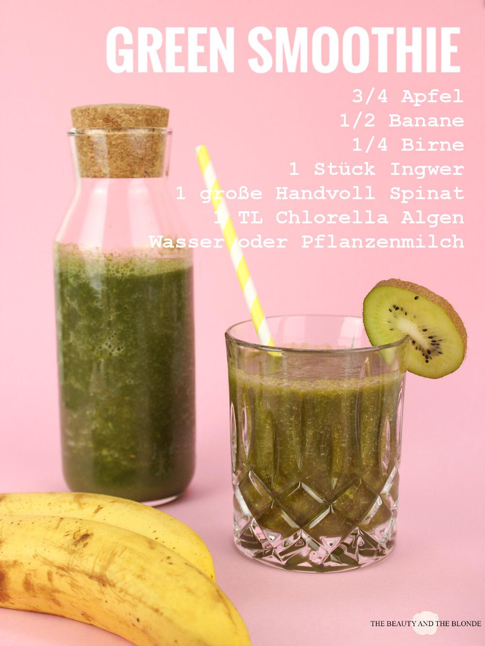 Rezept Recipe Green Smoothie Grün Chlorella Algen Beta Reu Rella