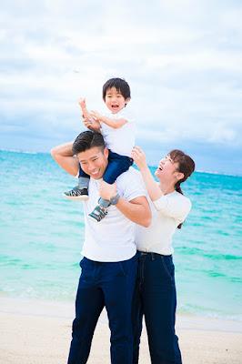 沖縄 結婚記念 ファミリーフォト