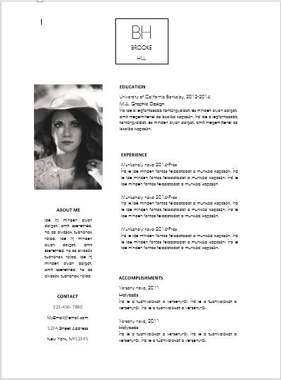 önéletrajz fénykép elhelyezése Modern önéletrajz 3 lépésben | hrblog.hu önéletrajz fénykép elhelyezése