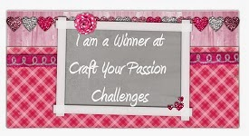 I won at Craft Your Passion Challenges!