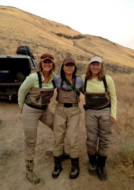 Steelhead Sisters: Jennifer Mitchell, Hyun Kounne, and Mia Sheppard