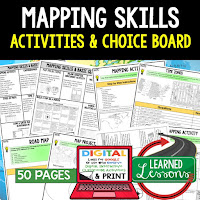 Mapping Skills, World Geography Graphic Organizers, World Geography Digital Interactive Notebook, World Geography Summer School, World Geography Google Activities
