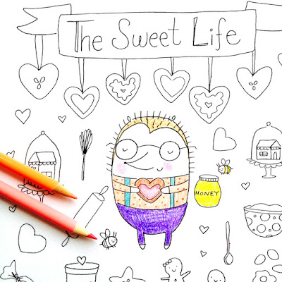 Bakery Coloring Page for Adults or Kids