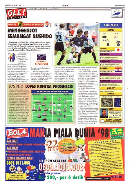 BUSHIDO JAPAN VS CROATIA WORLD CUP 1998