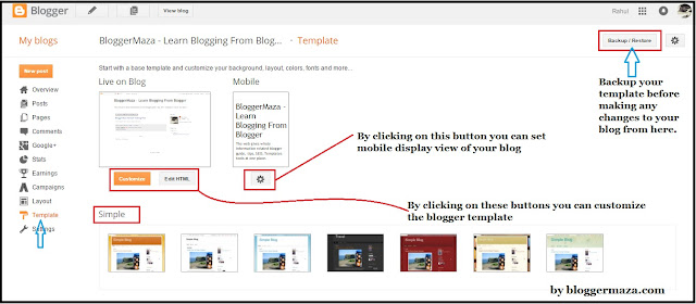 How to Customize blogger blog using Template and Layout | Blogger ...