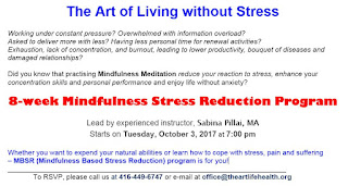 8-week Mindfulness-Based Stress Reduction Program: The Art of Living without Stress
