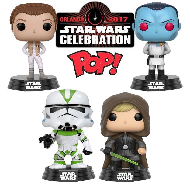 Bonecos Pop Funko Star Wars Celebration 2017