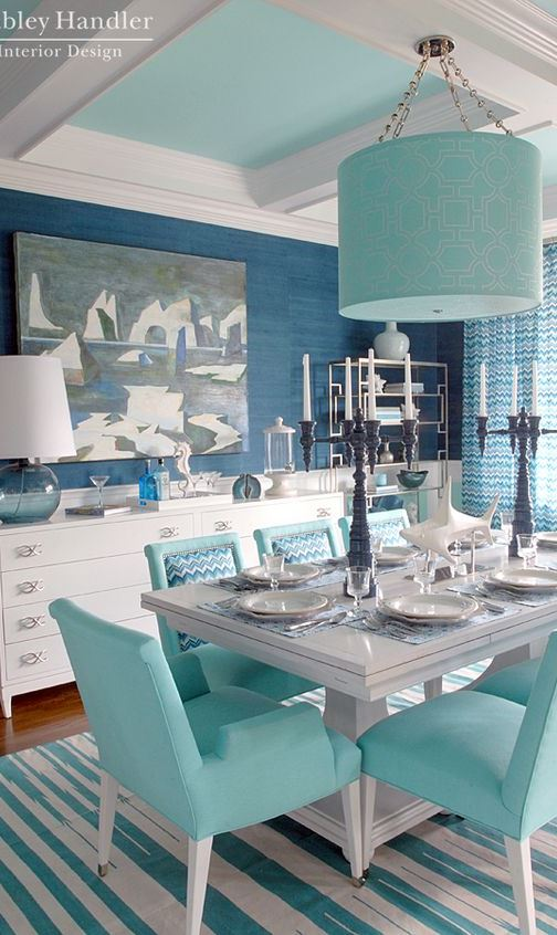 trendy blue home design idea