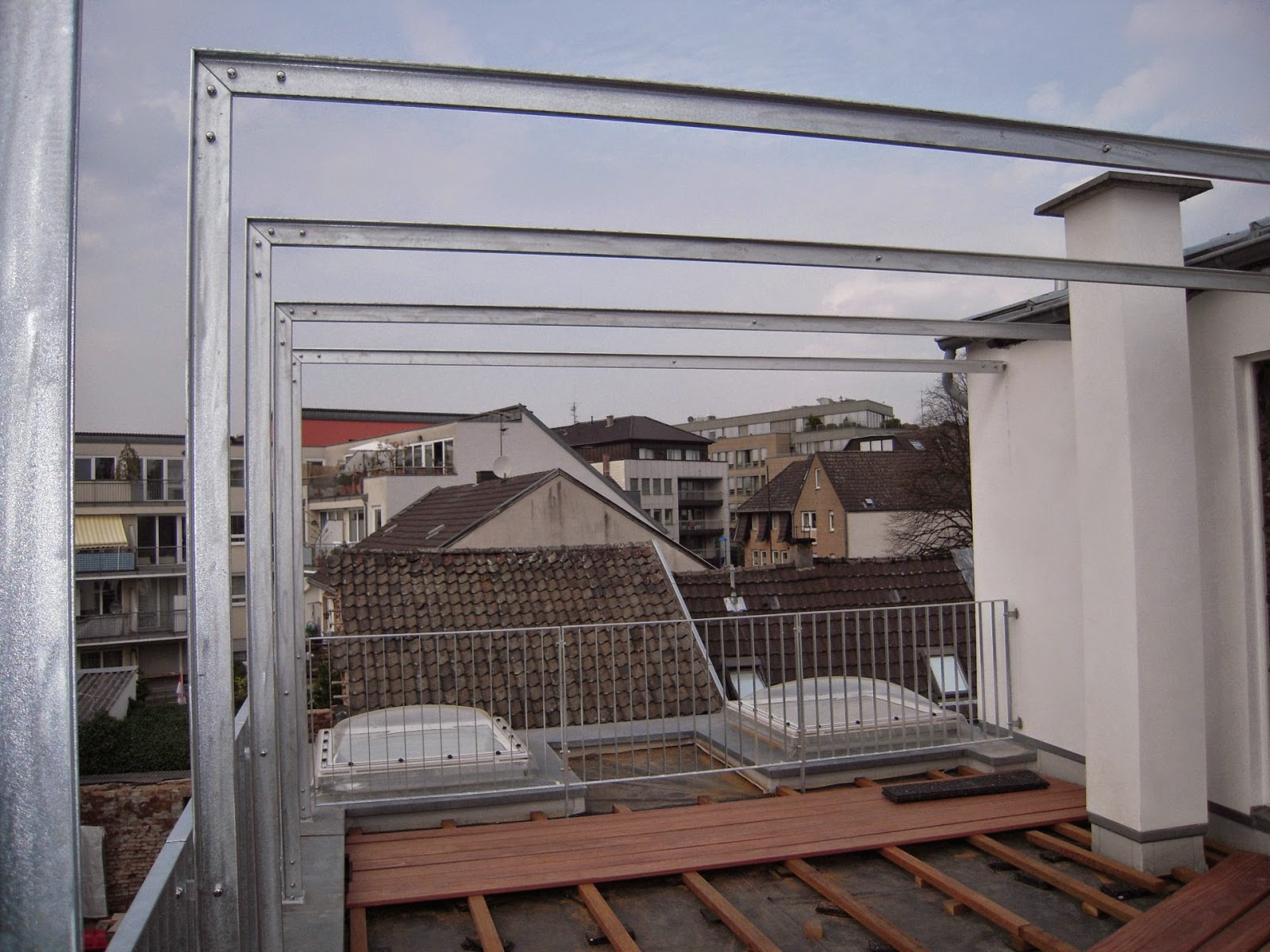 fr bel metallbau stahlpergola fenstergitter und terrassengitter montiert. Black Bedroom Furniture Sets. Home Design Ideas