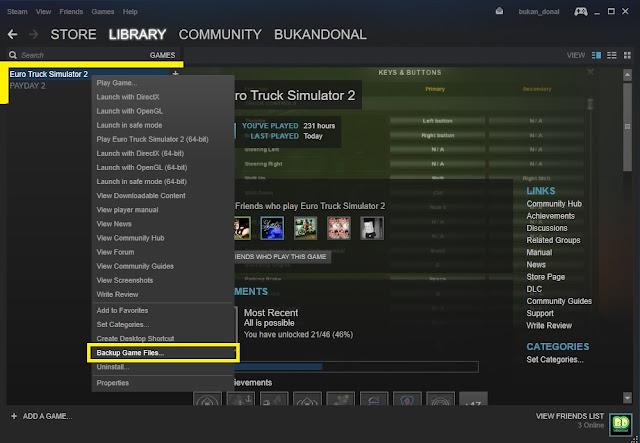 Backup Game Steam