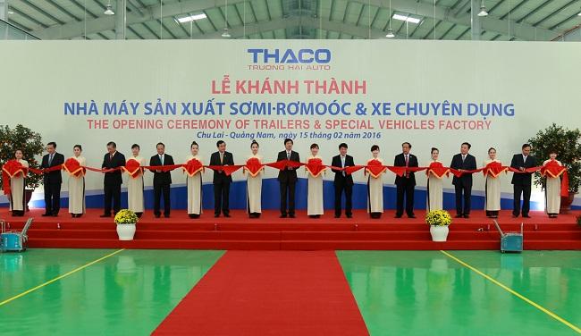 Thaco khánh thành nhà máy xe chuyên dụng hạng nặng