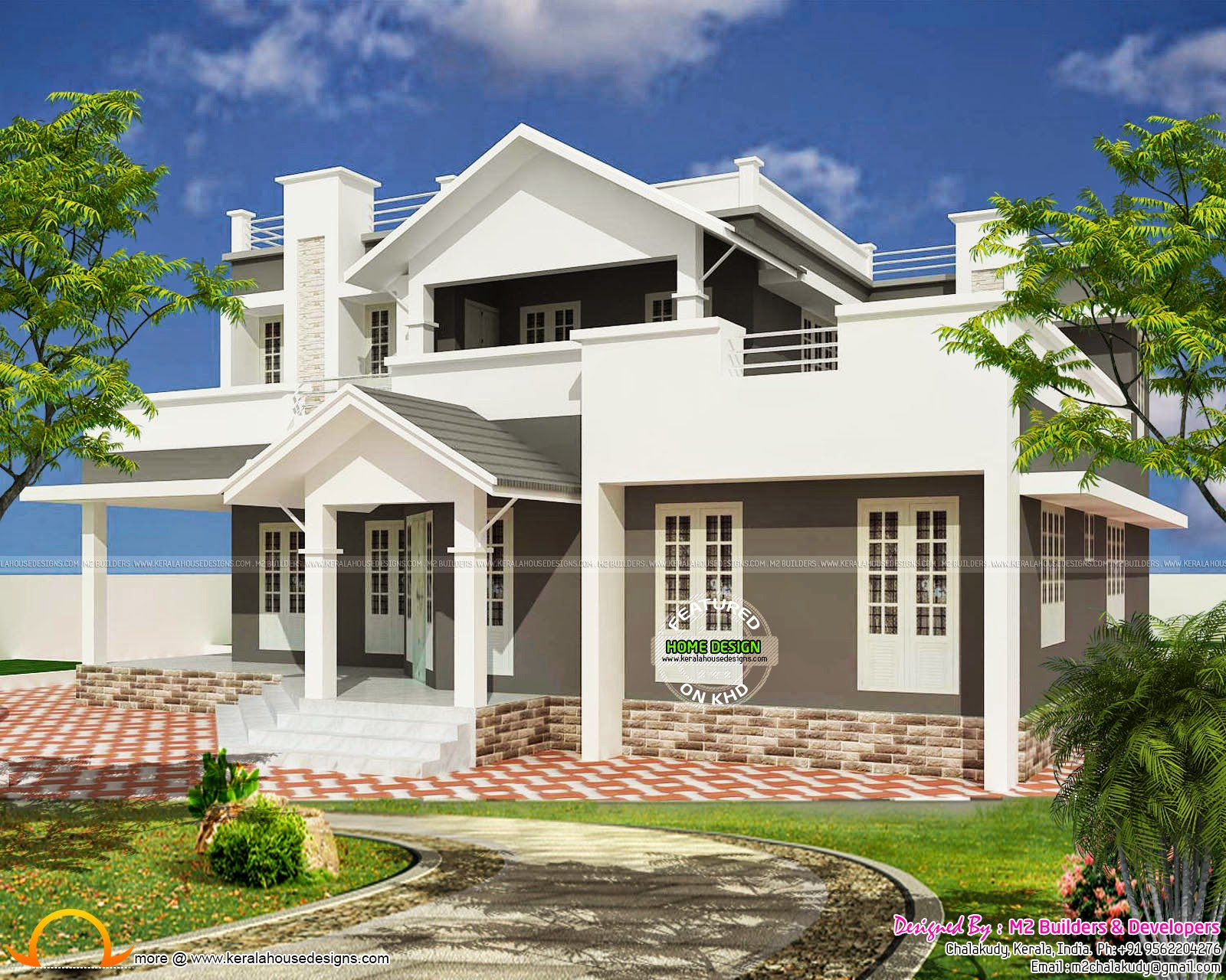 House design by m2 builders in chalakudy