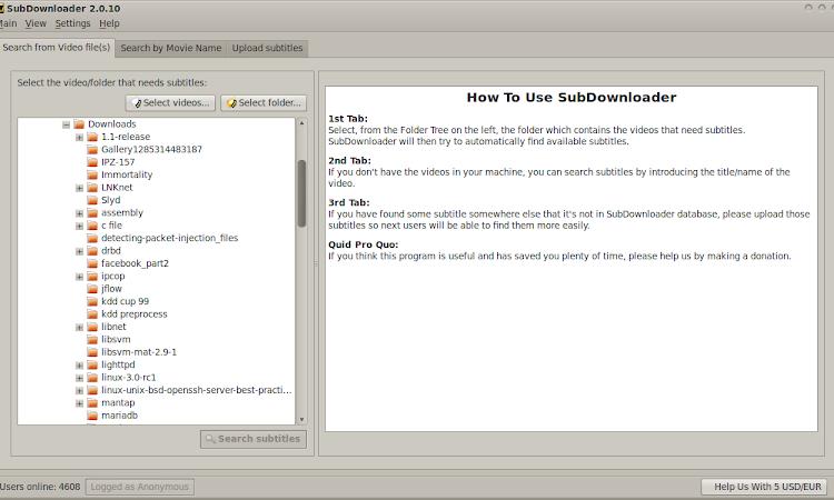 Cara Mencari Subtitle Film Menggunakan SubDownloader