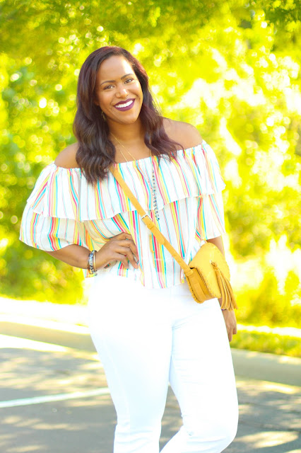 Summer Style : Striped Off the Shoulder Blouse \\ House of Polynesia