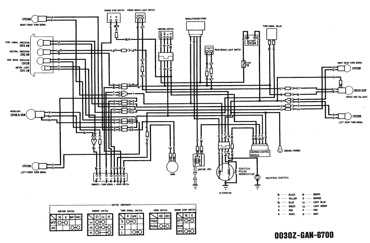 Honda Fury Wiring Diagram Detailed Schematics Goldwing 2010 Schematic Diagrams