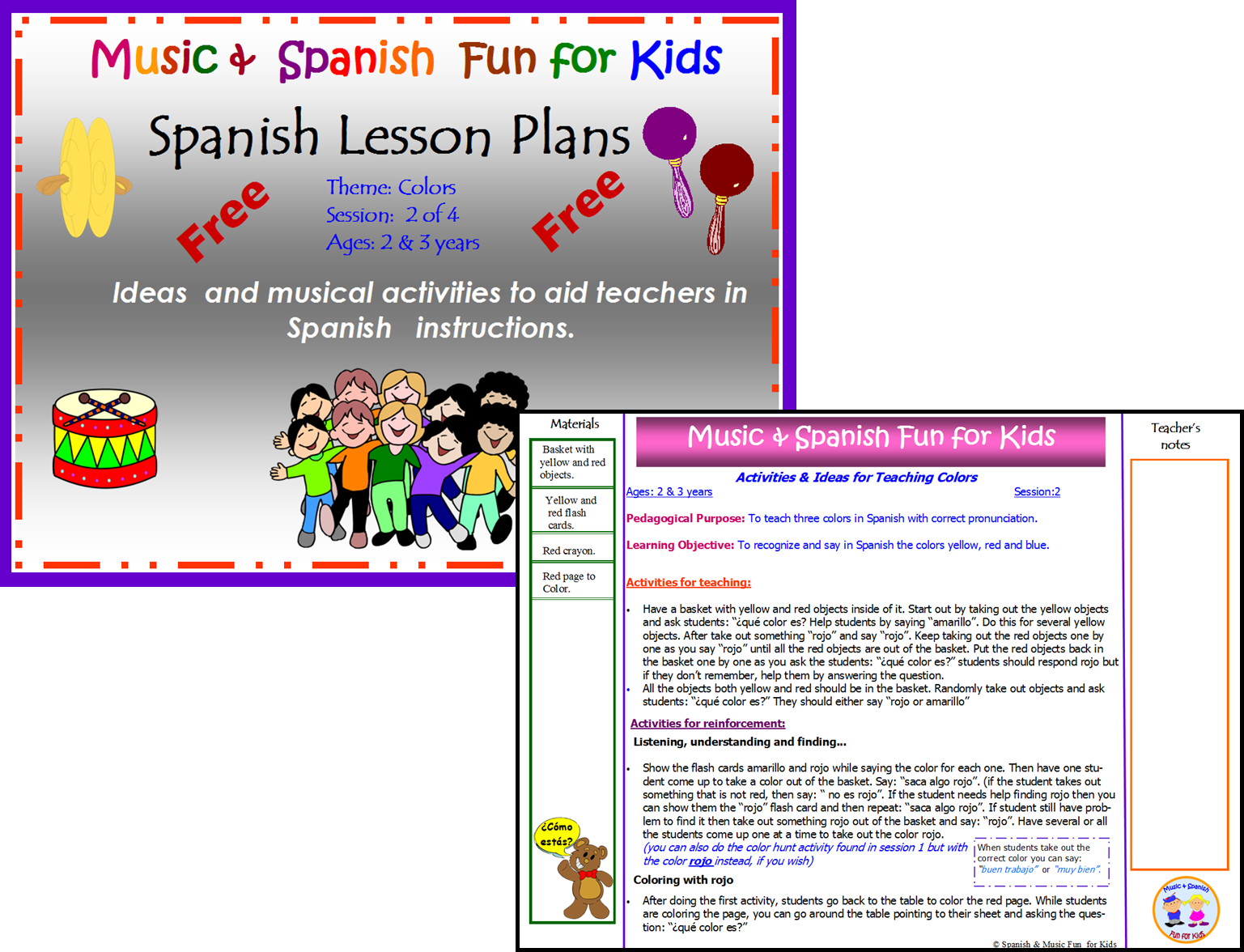 Spanish colors for preschool - Today I M Sharing Lesson 2 Of 4 To Teach Colors To Preschool Students Ages 2 3
