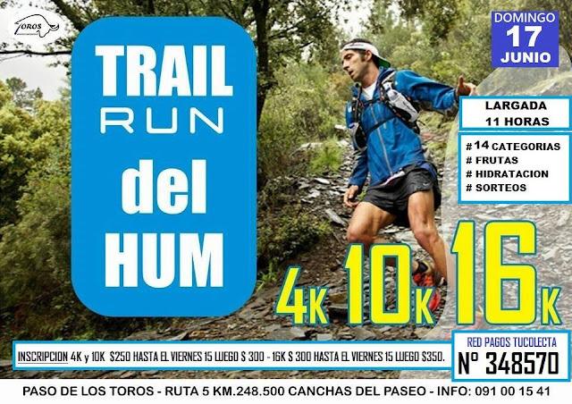 16k 10k 4k Trail run del Hum (Paso de los toros - Tacuarembó, 17/jun/2018)