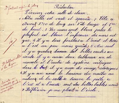 Cahier du jour Collection Charier éditeur à Saumur, élève Gabriel J., né en 1899, 1908 (collection musée)