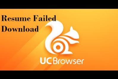 Cara melanjutkan unduhan di uc browser yang sempat Gagal