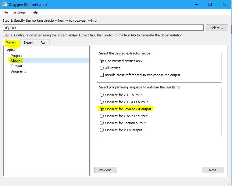 Generate HTML documentation using doxygen for C# ~ Full