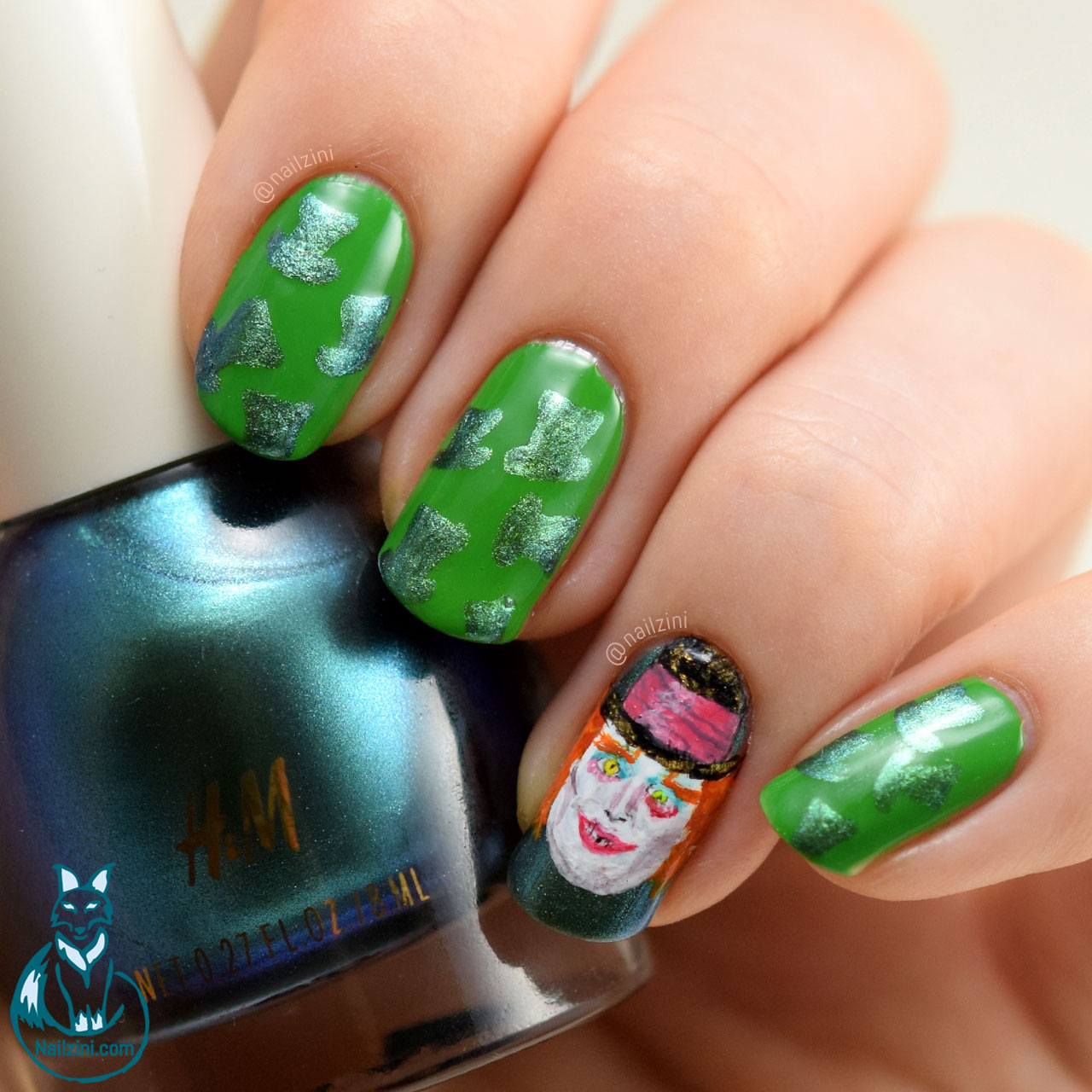 Alice Through The Looking Glass - Mad Hatter Nailzini