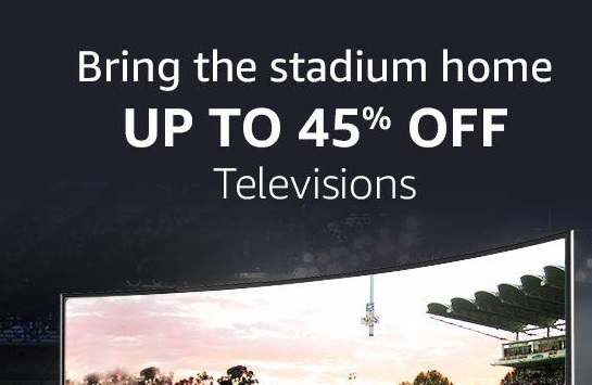 Up to 45% off: TVs + No cost EMI & exchange offers