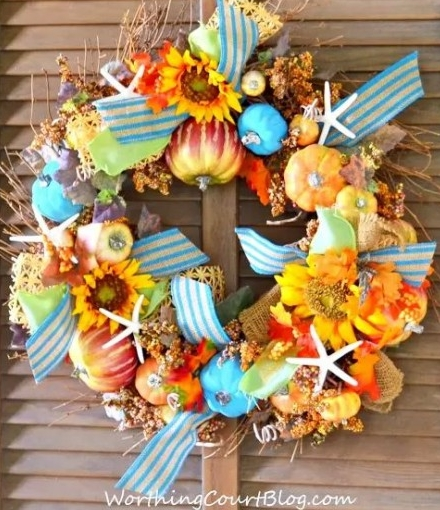 beach Fall wreath