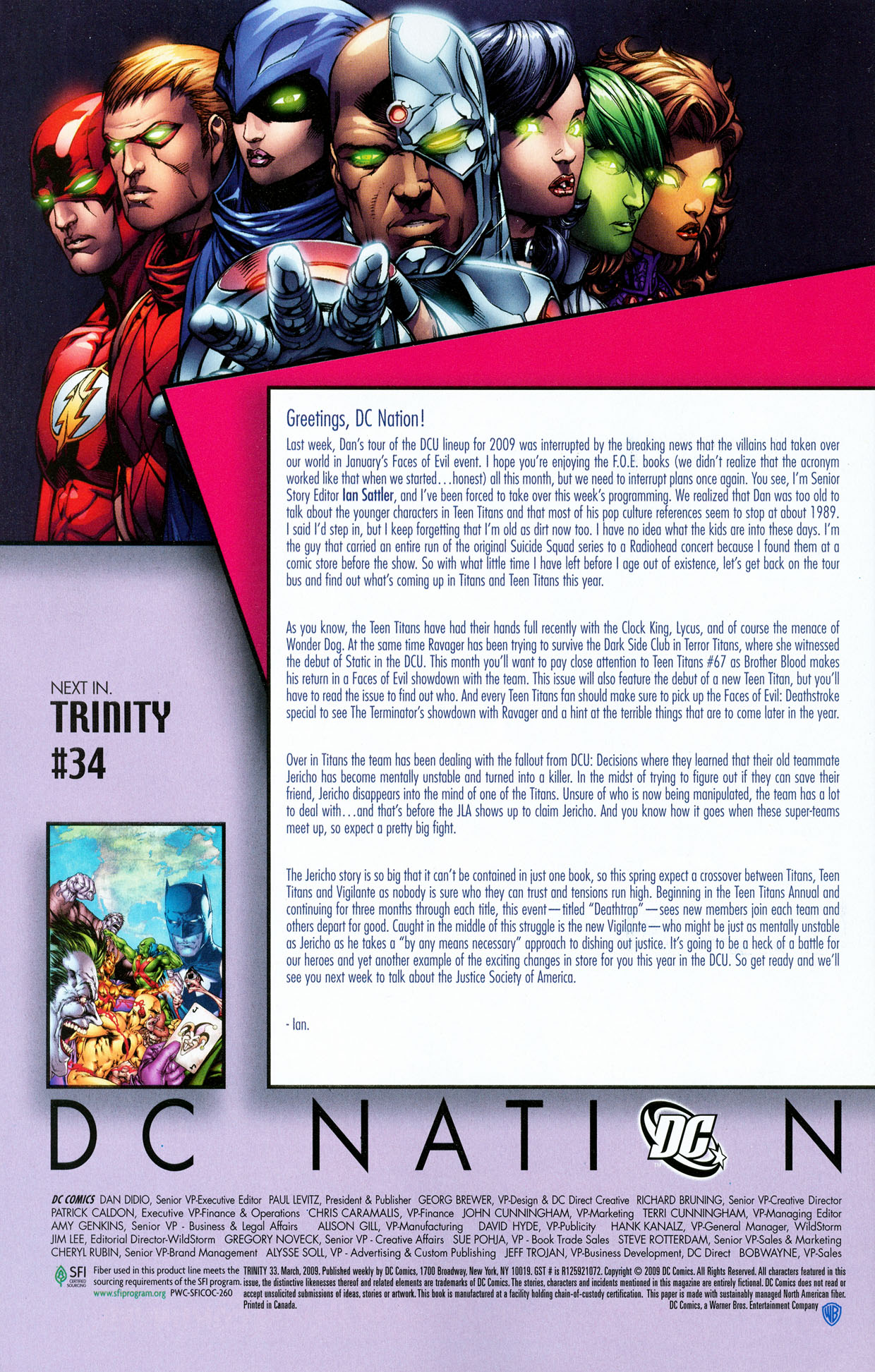 Read online Trinity (2008) comic -  Issue #33 - 33