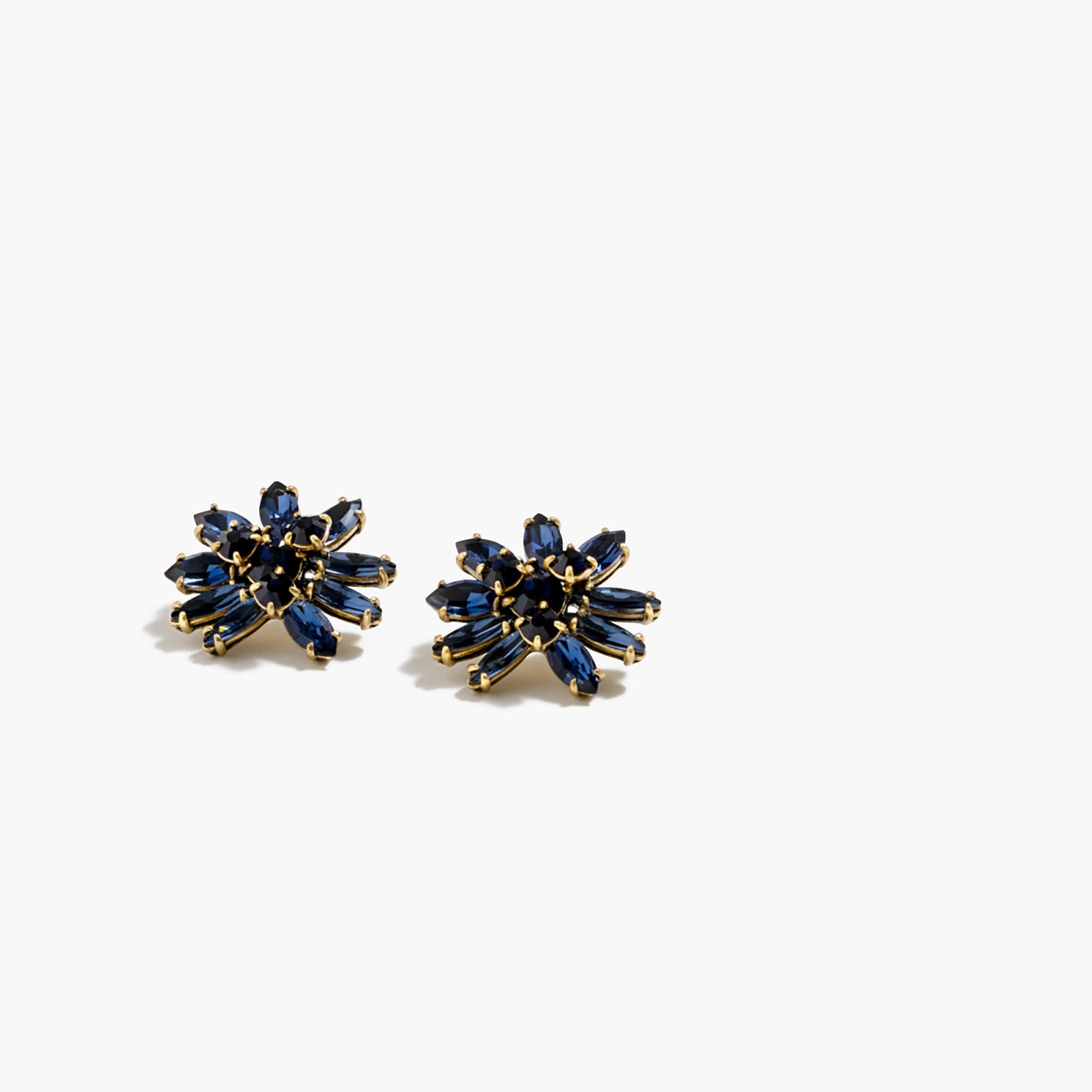 J crew crystal burst earrings