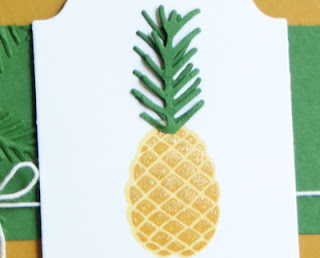 Stampin' Up! Christmas Pines Pineapple Card for my friends in Hawaii #stampinup www.juliedavison.com