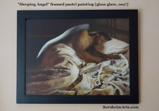 Sleeping Angel original pastel painting on art sale car buying in Italy