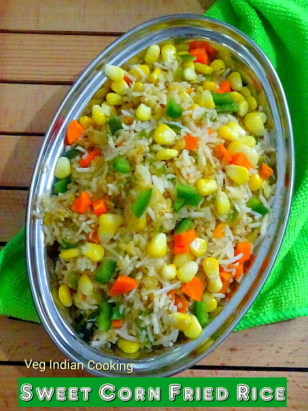 Sweet corn fried rice like schezwan fried rice this is again very easy and simplified recipe ccuart Choice Image