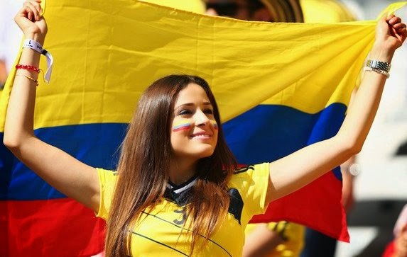 Beautiful Columbian fans