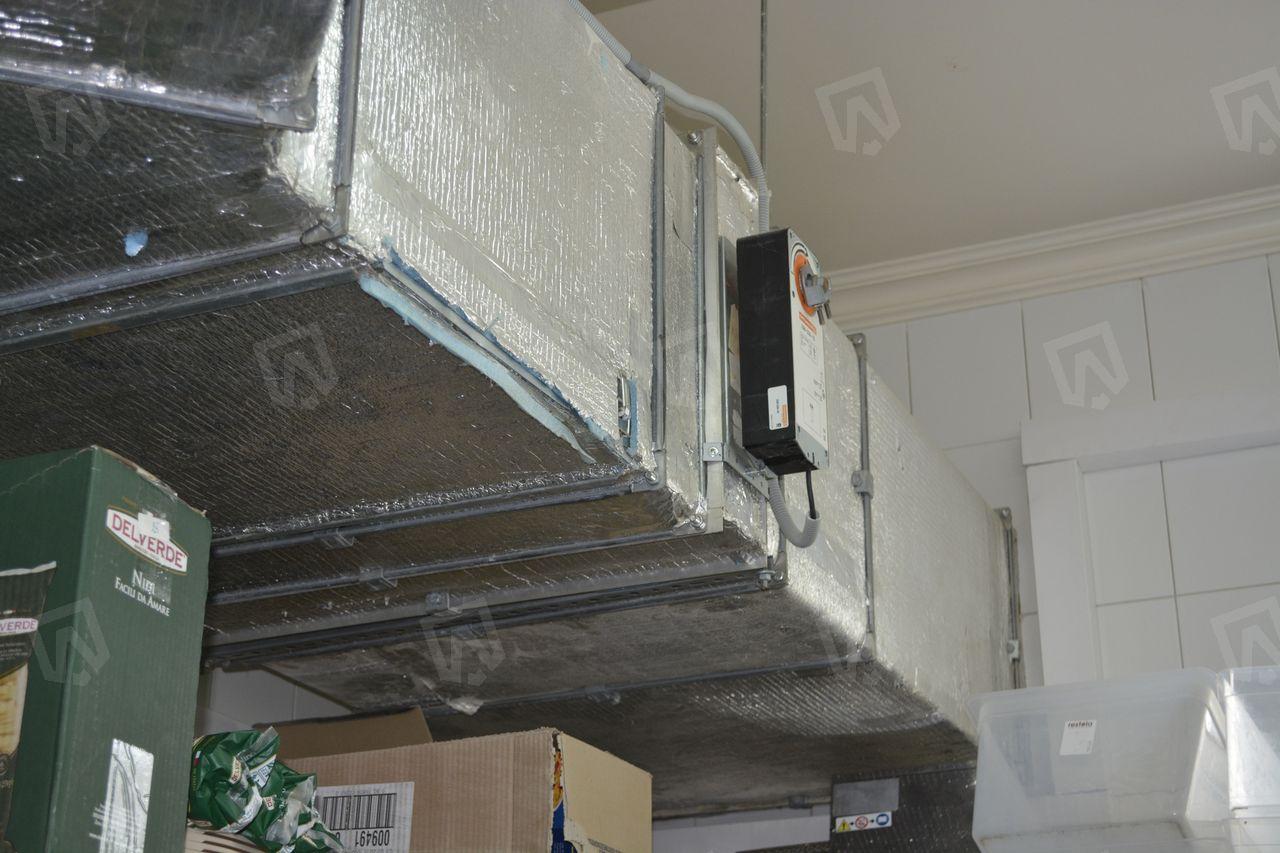 Электропривод воздушной заслонки Gruner предназначен для перекрытия воздушного канала