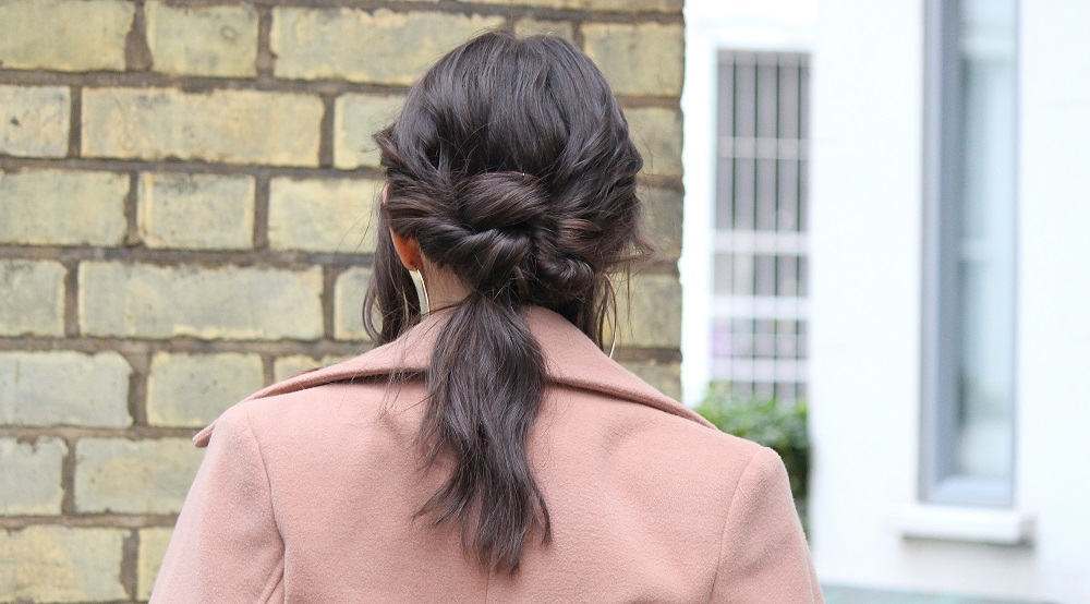 Mark Hill hair knotted ponytail LFW