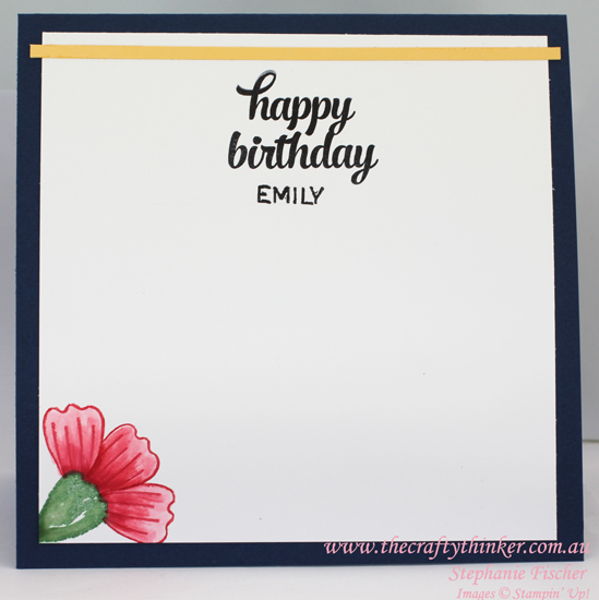 Stampin Up, #thecraftythinker, Bunch of Blossoms, teenage birthday card, Blossom Builder Punch, Stampin Up Australia Demonstrator