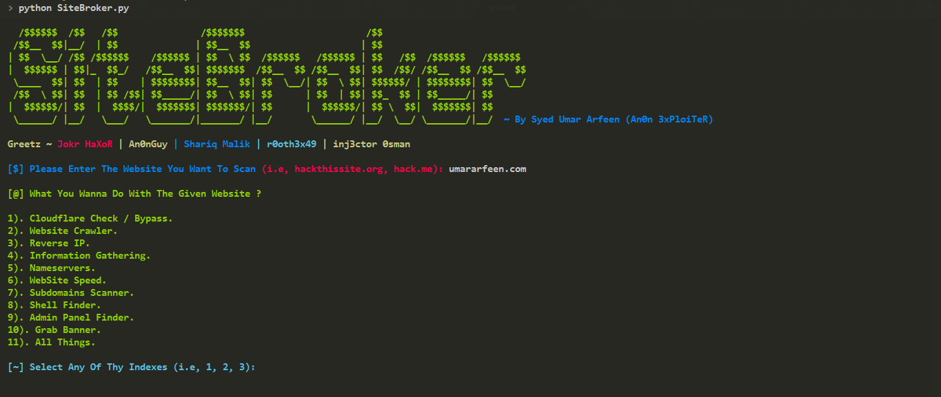 SiteBroker - A Cross-Platform Python Based Utility For