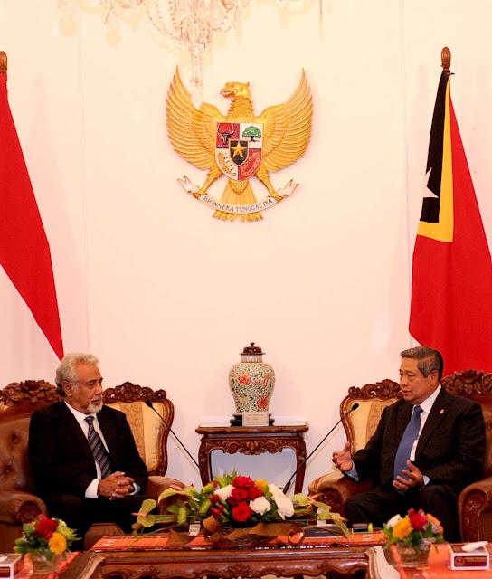 INFO TABAGSEL.com: Presiden SBY Menerima PM Xanana Gusmao