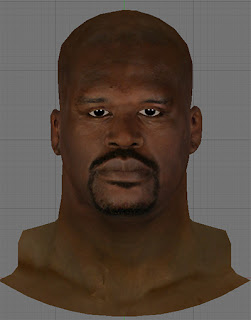NBA 2K13 Old Shaq w/ Beard Cyberface Patch