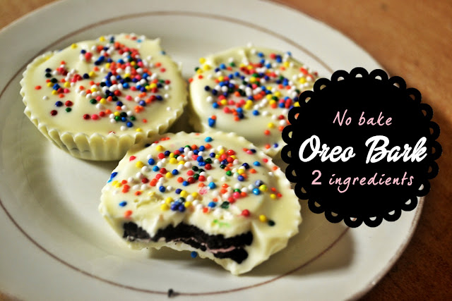 no bake oreo bark